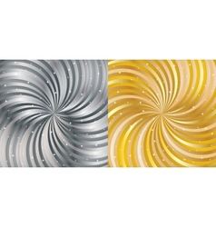 Shiny abstract background - gold and silver vector image