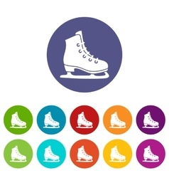 Skates set icons vector image vector image