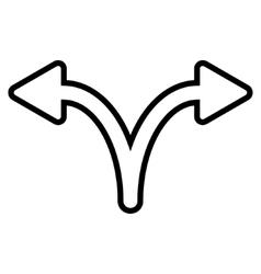 Split arrow left right outline icon vector