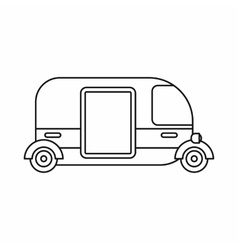 Thailand three wheel native taxi icon vector image