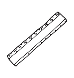 The ruler icon Outlined vector image
