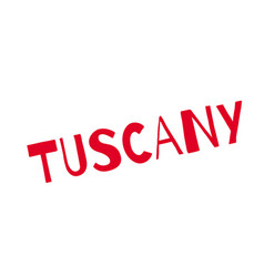 Tuscany rubber stamp vector