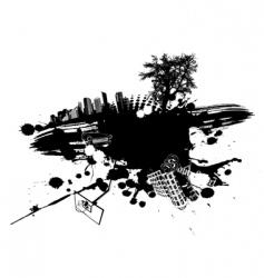 Urban splatter vector