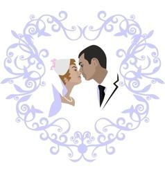 Wedding couple 07 vector image vector image