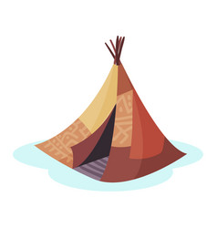 wigwam traditional house of north nations of vector image vector image