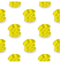 Yellow Coins Seamless Background vector image vector image