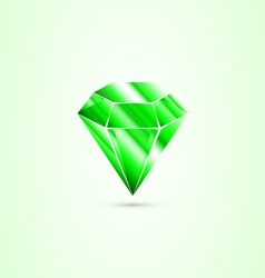 Emerald isolated vector