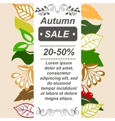 Very high quality original autumn sale booklet or vector