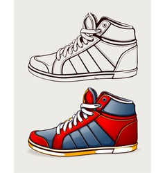 Shoes sneakers vector