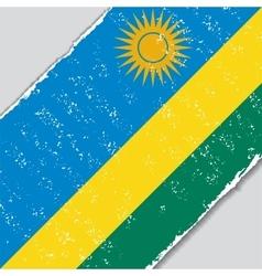 Rwanda grunge flag vector image