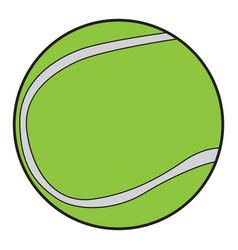 Isolated tennis ball vector