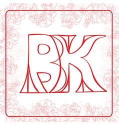 BK monogram vector image