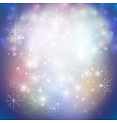 Winter background with snowflakes Abstract winter vector image