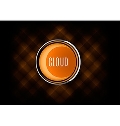 Cloud button vector