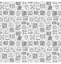 Online education seamless pattern vector