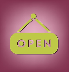 open label sign vector image