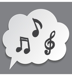 Musical notes with speech bubble vector