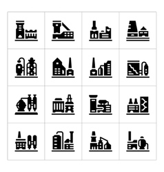 Set icons of factory vector