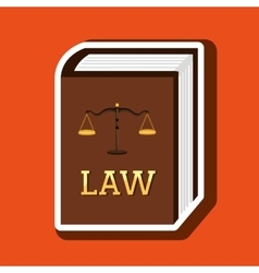 Law concept design vector