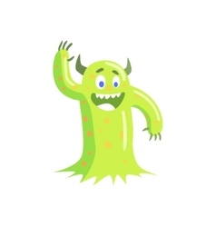 Green mucus childish monster vector
