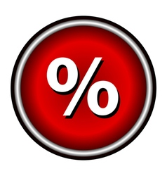 Percent icon internet button on white background vector