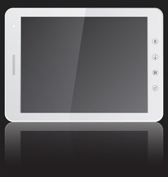 White tablet pc computer with blank screen horizon vector