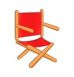 Director chair icon cartoon style vector