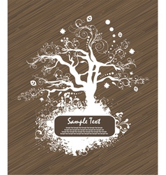 abstract tree with grunge vector image vector image