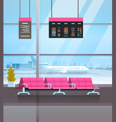airport waiting hall departure lounge terminal vector image vector image