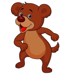 Baby bear cartoon dancing vector image vector image