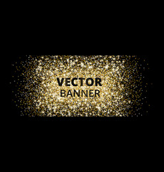 banner with golden glitter explosion sparkles on vector image vector image