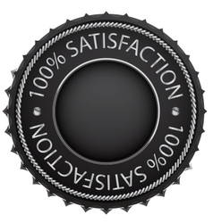 black satisfaction label vector image