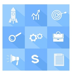 Business seo and social media marketing icons vector