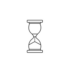 business time management and deadline line icon vector image