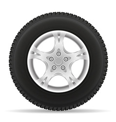 car wheel 02 vector image vector image