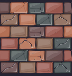 cartoon colored stone wall texture vector image vector image