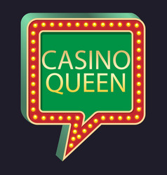 Casino party pointer casino queen vector