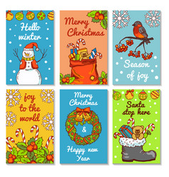 christmas invitation cards vector image vector image