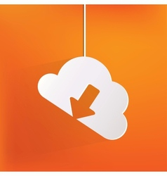Cloud download application web icon vector image