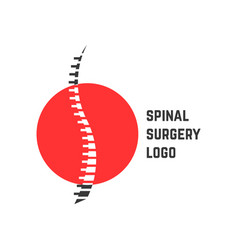 colored abstract spinal surgery logo vector image