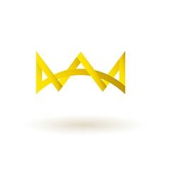 Crown king logo symbol icon vector image vector image