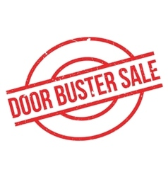 Door buster sale rubber stamp vector