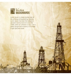 Drilling machine on vintage paper vector image vector image