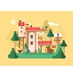 Farmland real estate design flat vector image