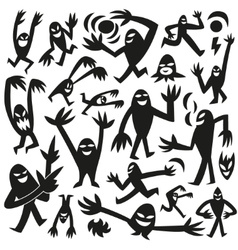 funny monsters -doodles vector image