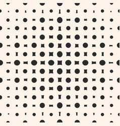 geometric halftone pattern with circles squares vector image