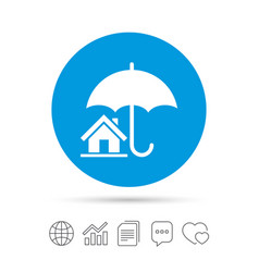 Home insurance sign icon real estate insurance vector