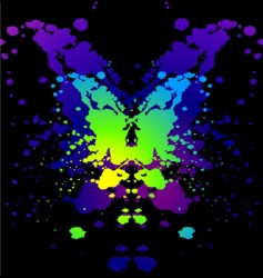 ink blot vector image