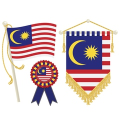 malaysia flags vector image vector image