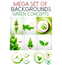 mega set of green concepts vector image